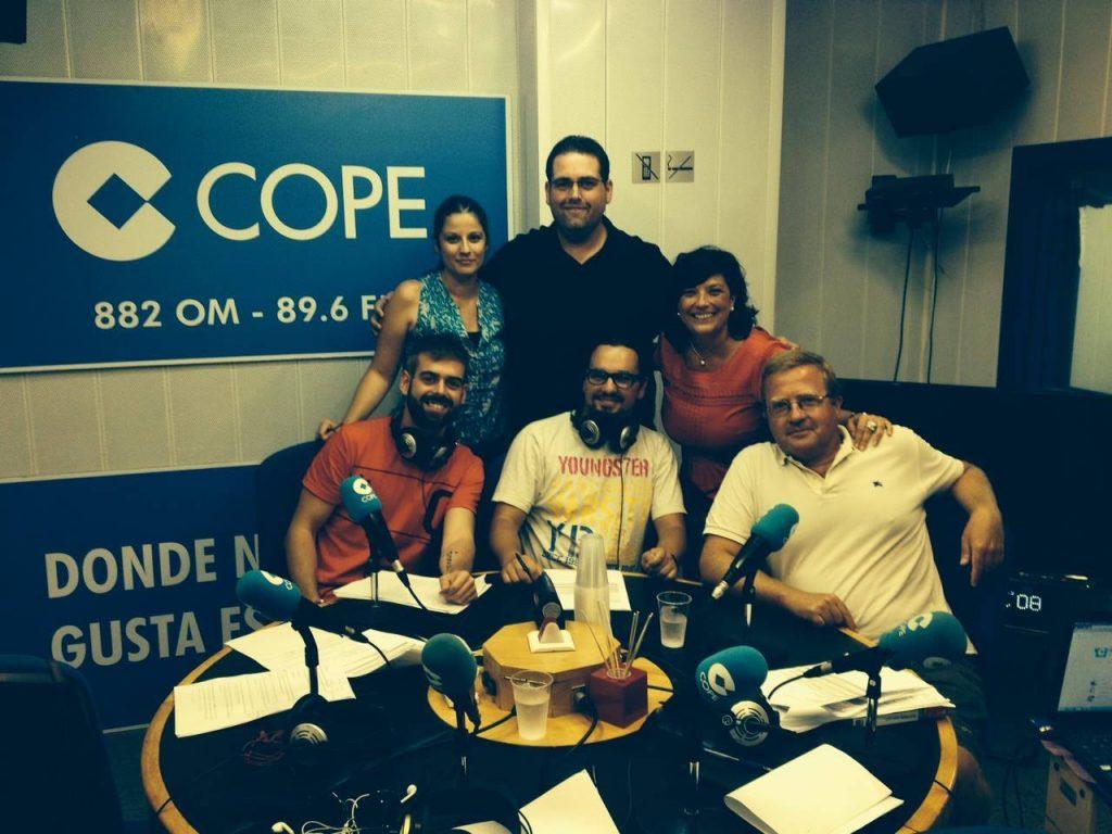 Andrés Pérez, Carolina Hernández e Isidro Pérez en COPE Alicante